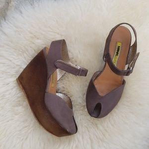 Shoes - Manas Lea Foscati beautiful leather wedge